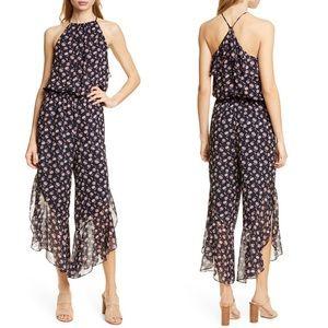 Joie 'Jael' 100% Silk Floral Print Jumpsuit, Large